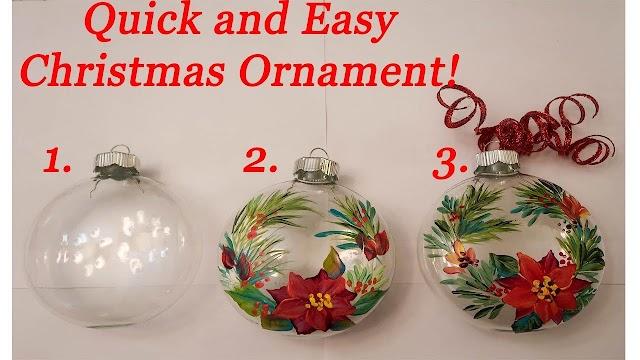 How To Make An Christmas Ornament