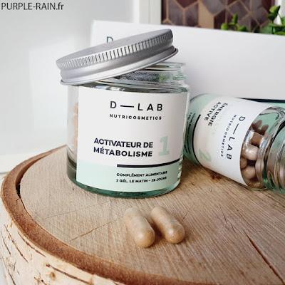 Blog PurpleRain : D-LAB Nutricosmetics 1 - Activateur de Métabolisme