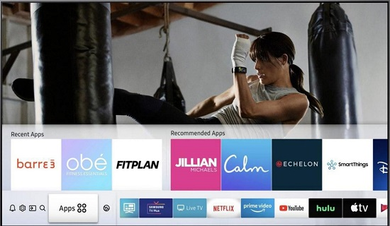 Samsung integrate six fitness apps to its smart TVs