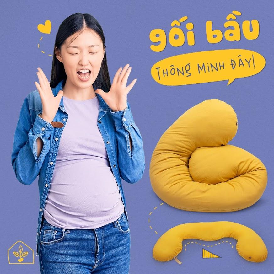 [A159] Gối Đậu Khuyết: Hơn 500.000 mẹ bầu tại Việt Nam yêu thích.
