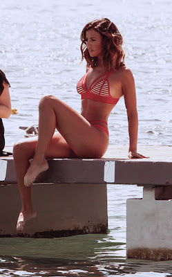 , Lucy shows off her stunning figure in strappy red bikini on holiday in Majorca, Latest Nigeria News, Daily Devotionals & Celebrity Gossips - Chidispalace