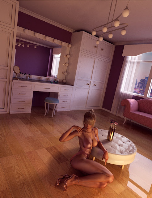 Vanity Room Environment and Poses