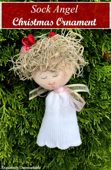 Sock Angel Christmas Ornament