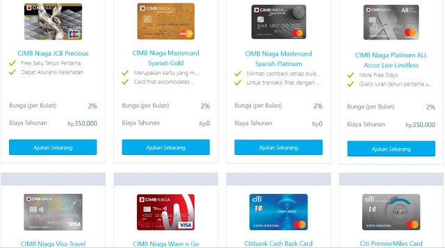 pengajuan kartu kredit online
