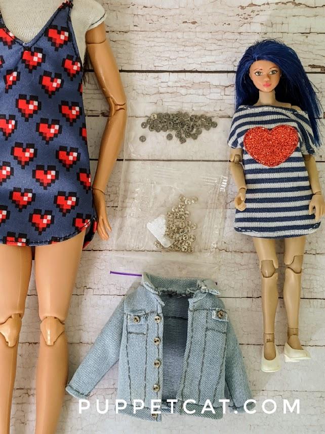 Металлические пуговицы для кукол