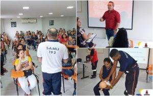 Profissionais da Educação Infantil recebem curso de noções básicas em primeiros-socorros ministrado pelo SAMU