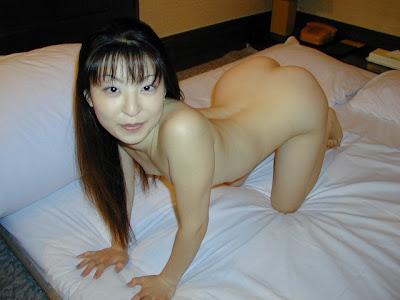Fair Asian Woman Spreading It Wide