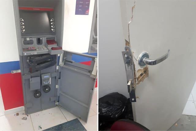 Homem é preso e adolescente apreendido após tentativa de furto a caixa eletrônico em Malhada