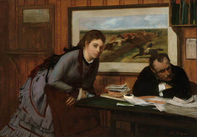 Эдгар Дега - Размолвка (ок.1869)