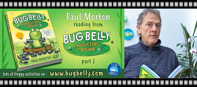 image advertising video for author Paul Morton reading from his Bug Belly book