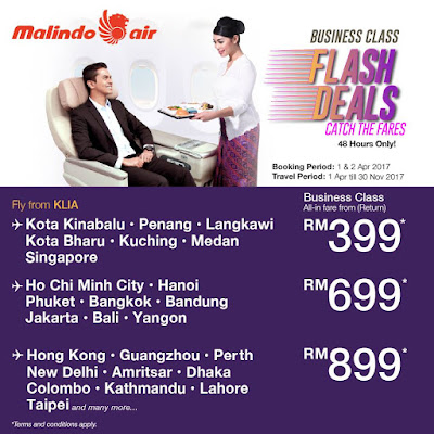 Malindo Air Business Class Discount Deals
