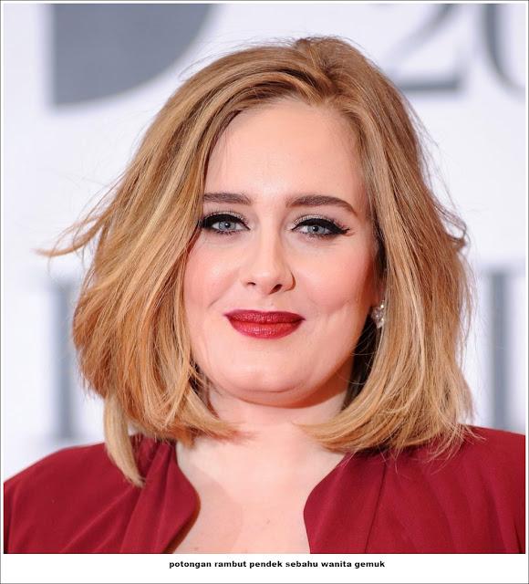potongan rambut pendek sebahu wanita gemuk