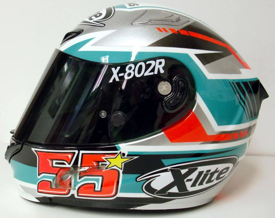 racing helmets garage x lite x 802rr h syahrin 2016 by mrd. Black Bedroom Furniture Sets. Home Design Ideas