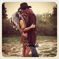 Disfraz para parejas de india y vaquero
