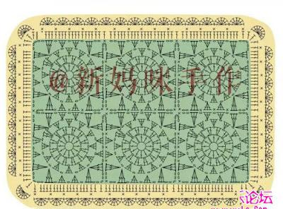 manta de crochê feita com square com gráfico de como fazer