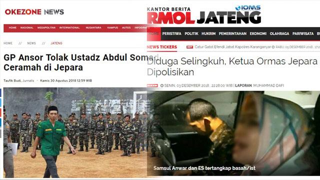 Pernah Tolak Ustadz Somad, Ketua GP Ansor Jepara Terciduk Bawa Bini Orang ke Hotel