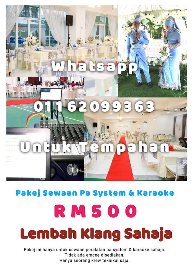 Pakej Pa System & Karaoke Sahaja