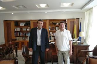 Με στόχο τη βελτίωση των παρεχόμενων υπηρεσιών προς τους πολίτες   η Συνάντηση  Αντιπεριφερειάρχη Καστοριάς με τον Διοικητή του Νοσοκομείου