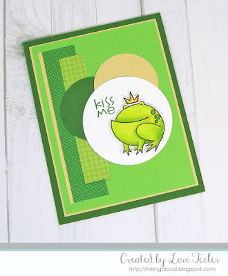 Kiss Me card-designed by Lori Tecler/Inking Aloud-stamps from Paper Smooches