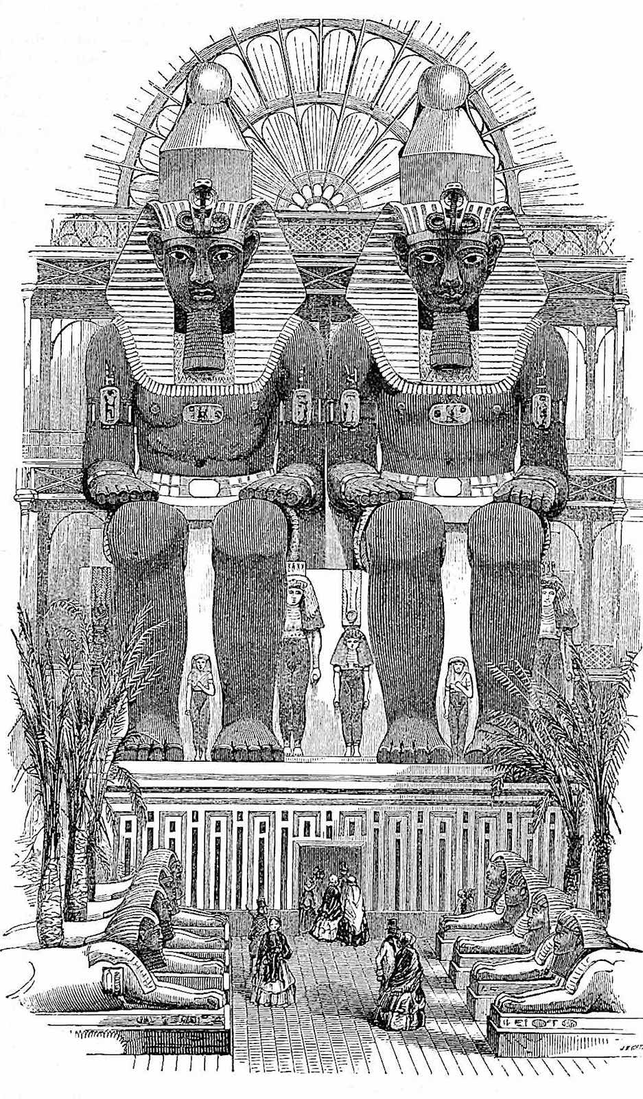 the Egyptian relics display at the 1851 Great Exhibition of London