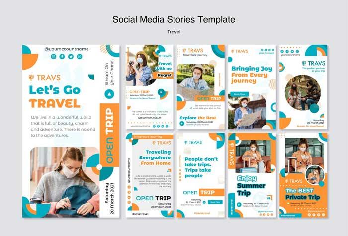 Travel Instagram Stories PSD Template