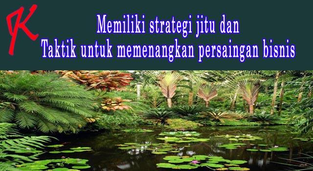 Memiliki strategi jitu dan taktik untuk memenangkan persaingan bisnis