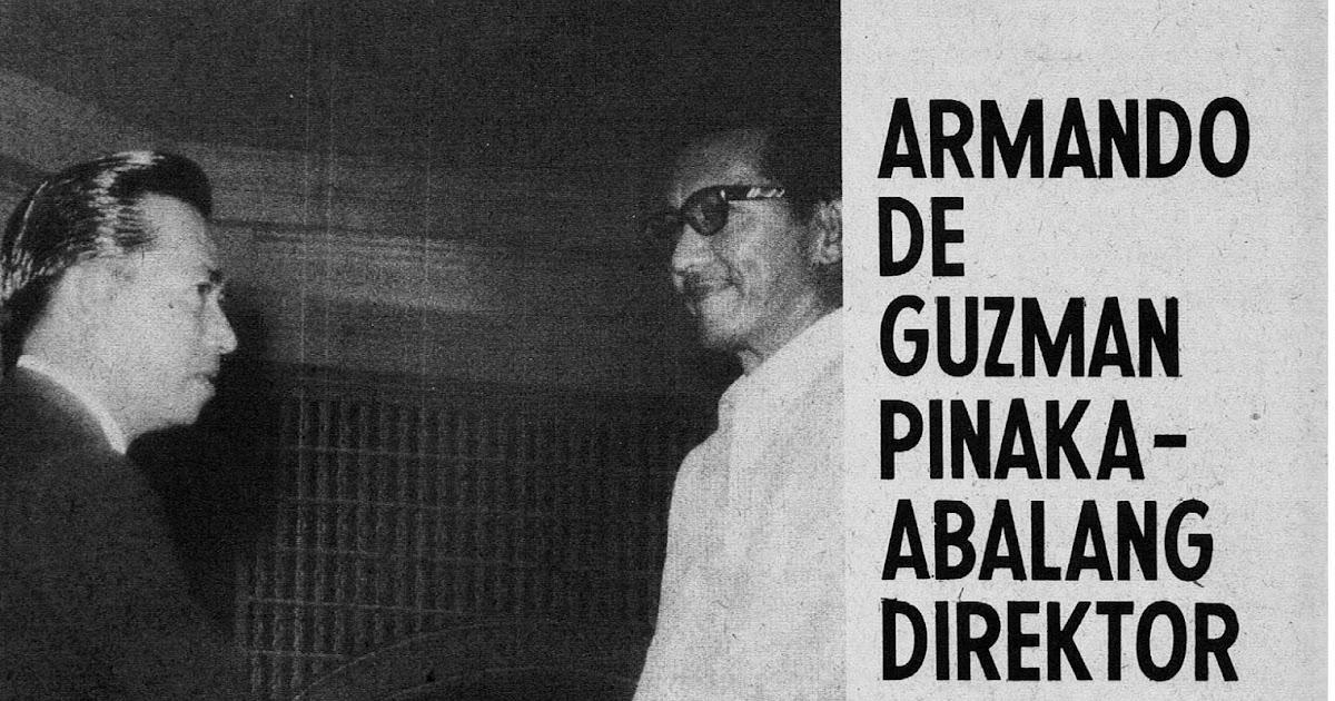 ARMANDO DE GUZMAN, PINAKA-ABALANG DIREKTOR SA KASALUKUYAN (Sinulat ni Robustiano Lu. Morota, Literary Song-Movie Magazine, January 16, 1965)