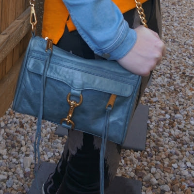 Rebecca Minkoff 2012 sky grey mini MAC bag | away from theblue