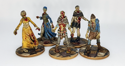 Zombicide Black Plague Zombies Painted