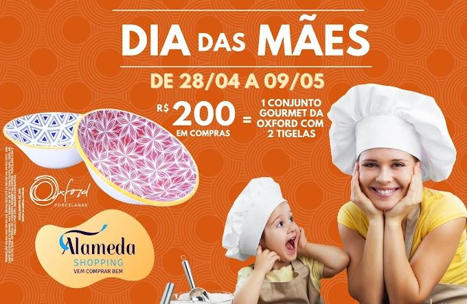 """Alameda shopping lança campanha para o Dia das Mães de 2021: """"Compre e Ganhe"""" com brinde exclusivo da  Oxford Porcelanas"""
