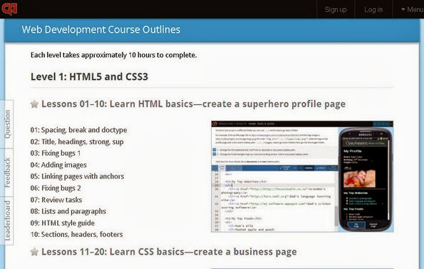 Code Avengers HTML CSS Course