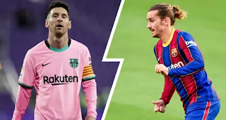 Messi and Griezmann statically rank among worst Barca players in terms of conversion rate