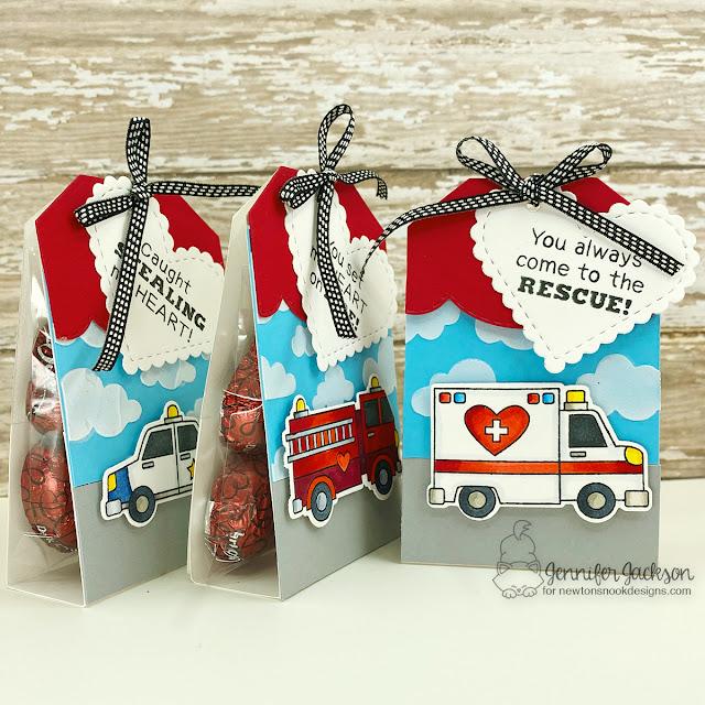 Sweet Treats Blog Hop!  Valentine Treats by Jennifer Jackson | Love Emergency Stamp Set and Fancy Edges Tag Die Set by Newton's Nook Designs