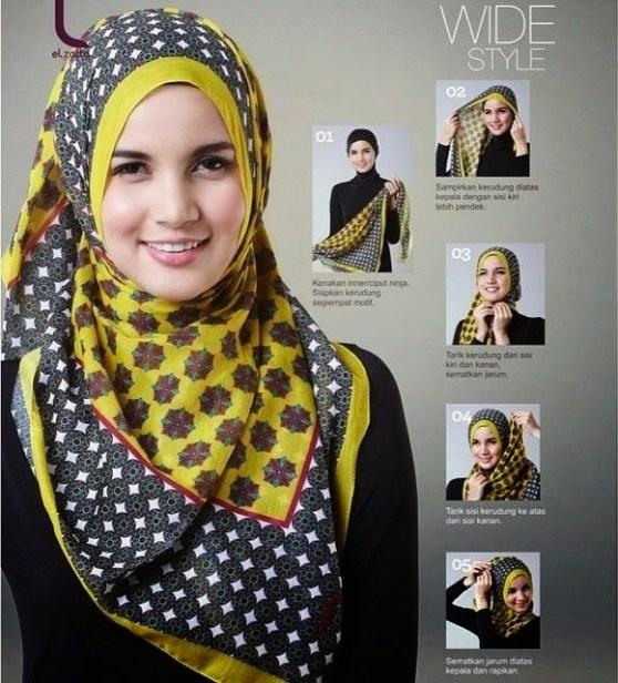 cara pake hijab style 1