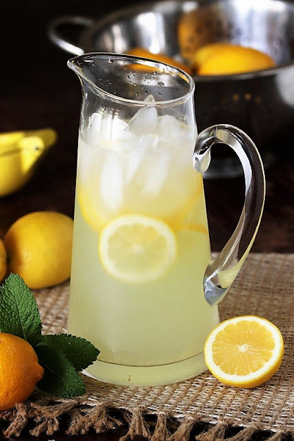 Pitcher of Homemade Lemonade Image
