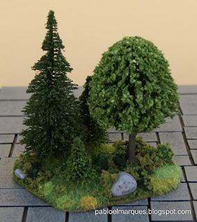 Ejemplo pinos en bosque