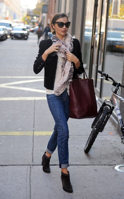 ankle boots and jeans look