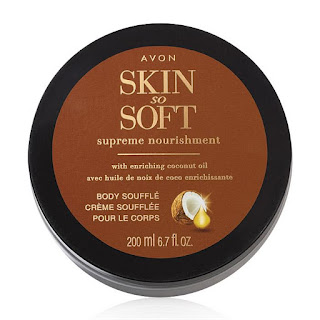 avon catalog Skin So Soft Supreme Nourishment Enriching Coconut Oil Body Soufflé - 1 Skin So Soft Supreme Nourishment Enriching Coconut Oil Body Soufflé - 2  Click for larger image SHARE     Skin So Soft Supreme Nourishment Enriching Coconut Oil Body Soufflé