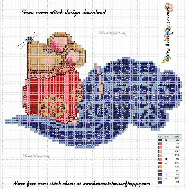 Free Chinese New Year Rat Cross Stitch Pattern