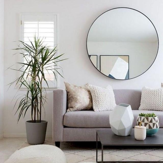 Ruang Tamu Warna Putih Cerah