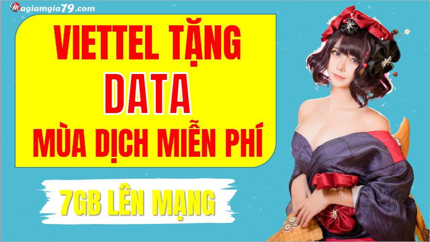 Viettel tặng data mùa dịch miễn phí
