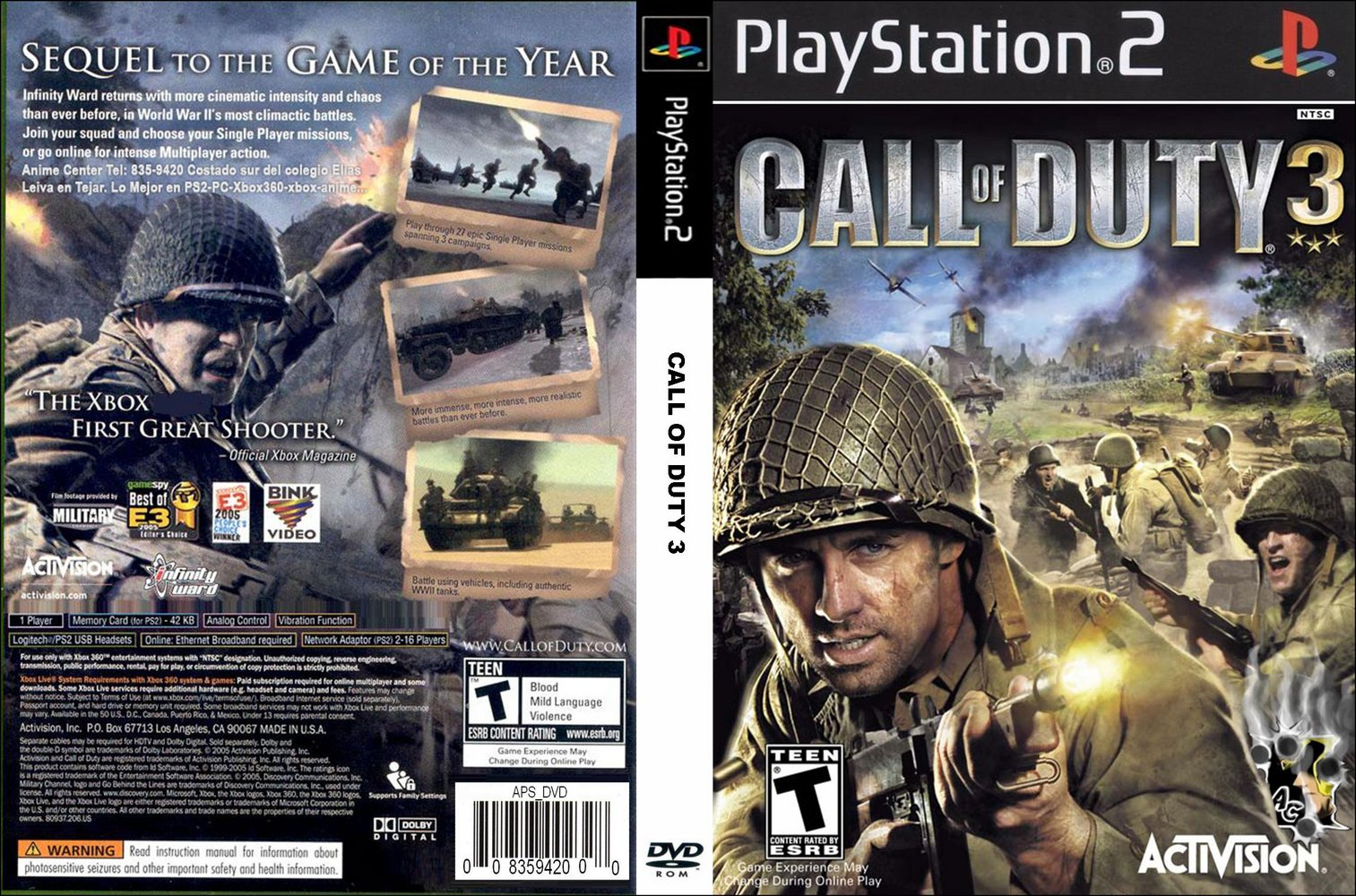 Zona Torrent Game: Call Of Duty 3 [ISO] [PS2] - Download
