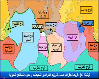 خريطة للصفائح التكتونية