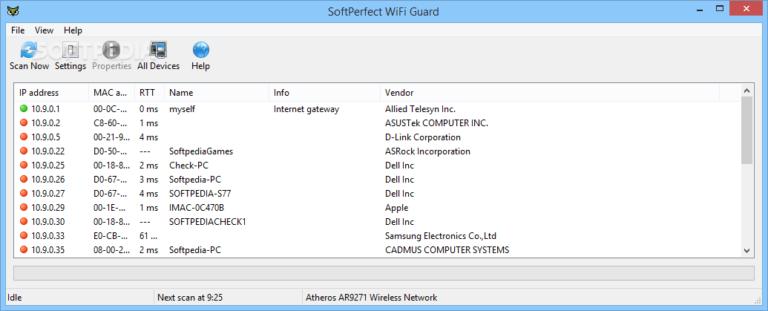 SoftPerfect WiFi Guard v2.1.4 License Key - Quản lý mạng máy tính