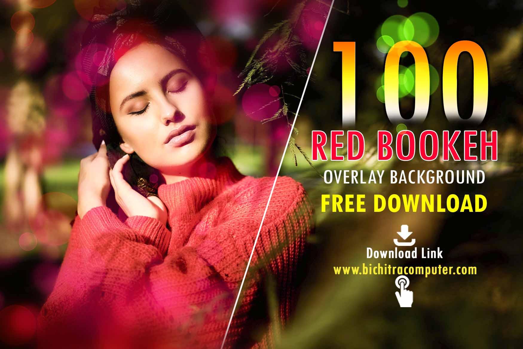 Red Bokeh Overlays