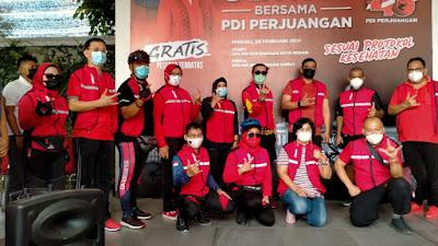 Bersama Yasonna Laoly dan Bobby Nasution, PDIP Sumut Gelar Sepeda Sehat