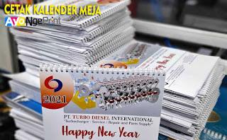 Harga Cetak Kalender Meja atau Duduk Murah di Kiaracondong, Bandung