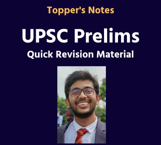 [Topper's Notes] Rushikesh Reddy - UPSC Prelims Quick Revision Material (PDF)