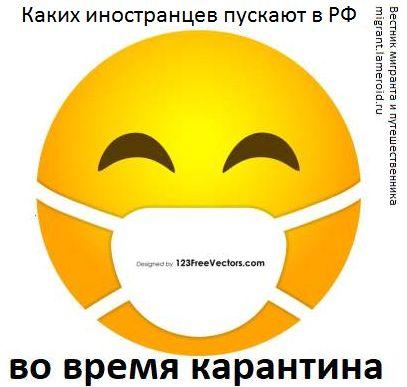 Каких иностранцев пускают в Россию во время карантина из-за коронавируса?