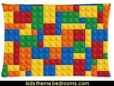 Lego Bricks Pattern Pillowcase Pillow Covers